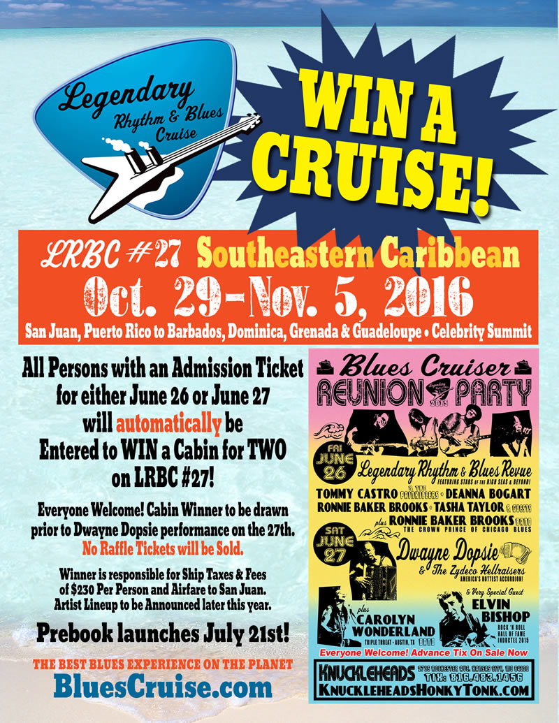 Just Announced! WIN A CRUISE @ Cruiser Reunion Party in Kansas City