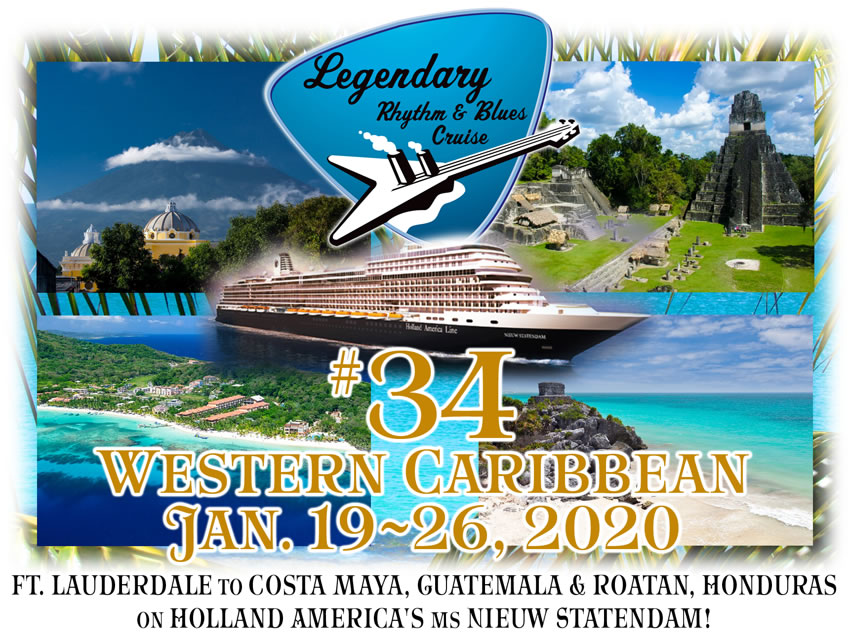 Frank Foster Tour Dates 2020 34 Jan. 2020 Western Caribbean | Legendary Rhythm & Blues Cruise